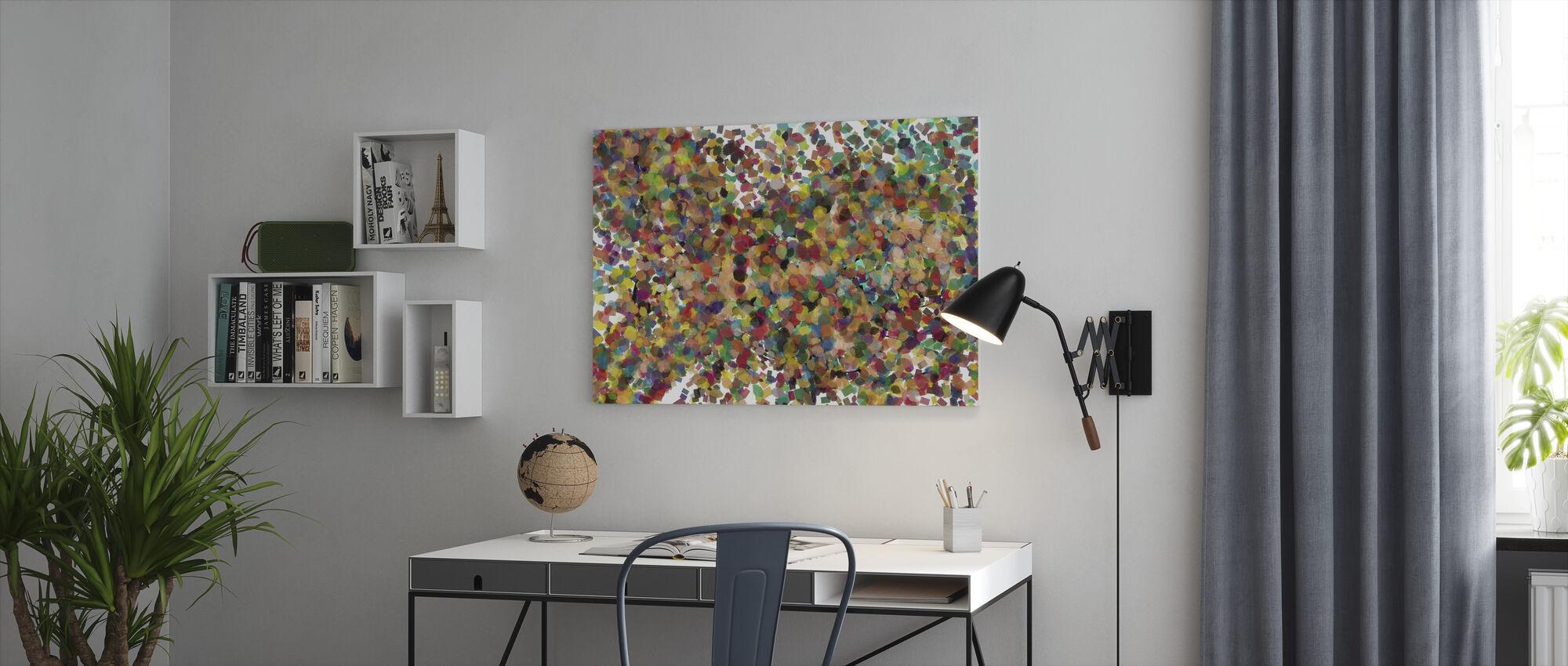 Pop Art Confetti - Canvas print - Office