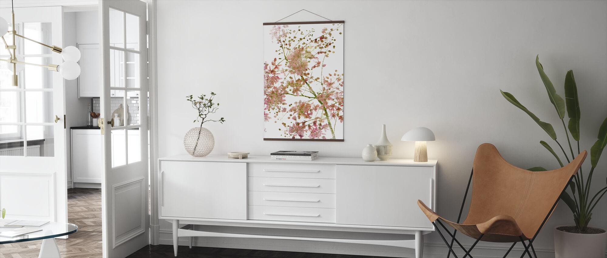 Rosa Blomma - Poster - Vardagsrum