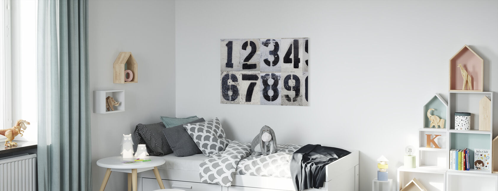 Painted by Numbers - Canvas print - Kids Room