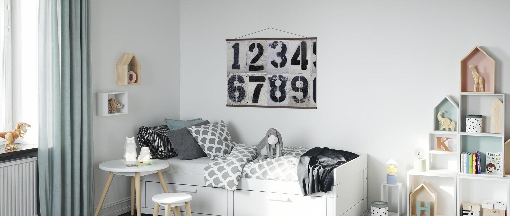 Malet av tall - Plakat - Barnerom