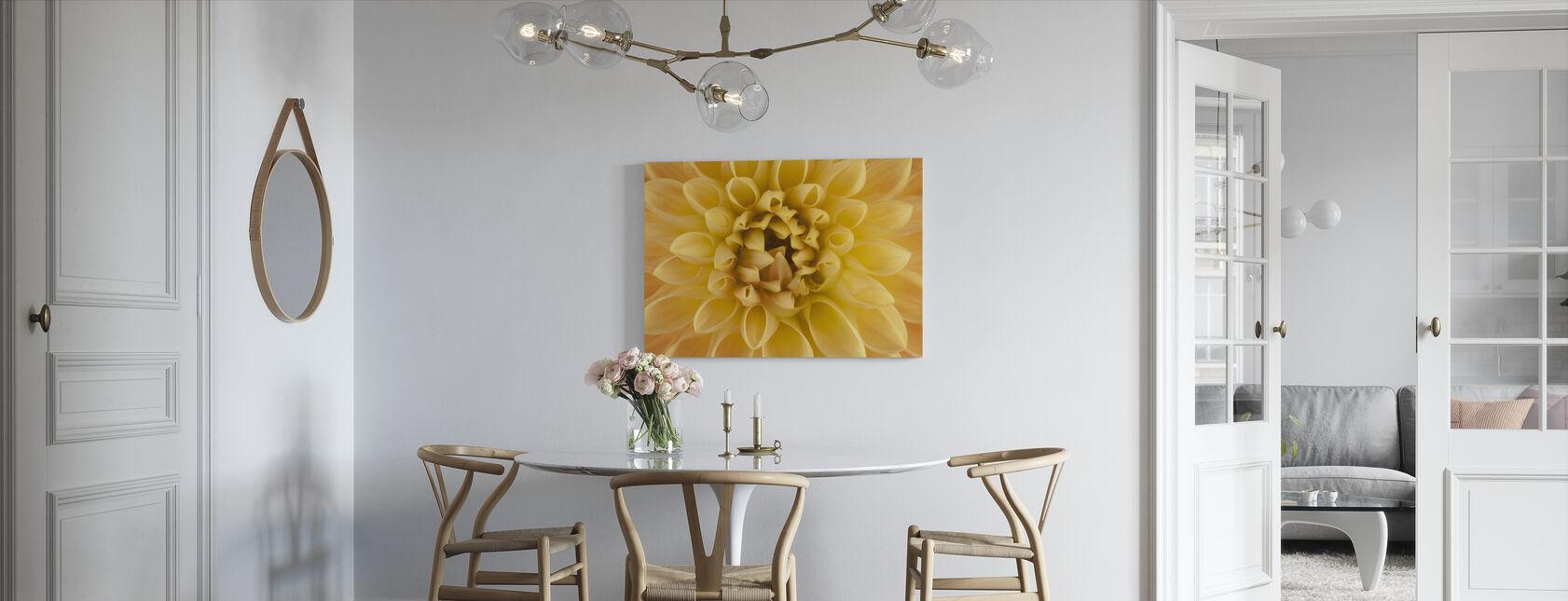 Amber Dahlia - Canvas print - Kitchen