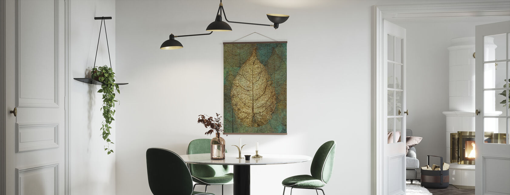 Golden Copper Leaf - Poster - Kitchen