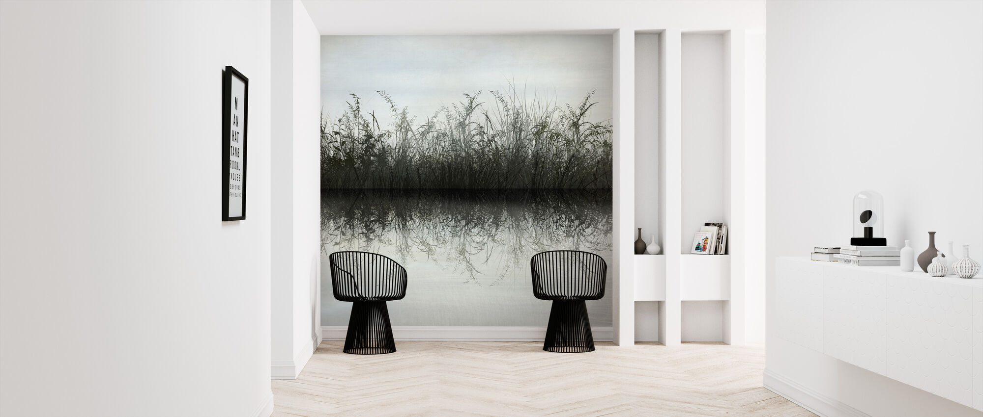 Grass Water Reflection - Wallpaper - Hallway