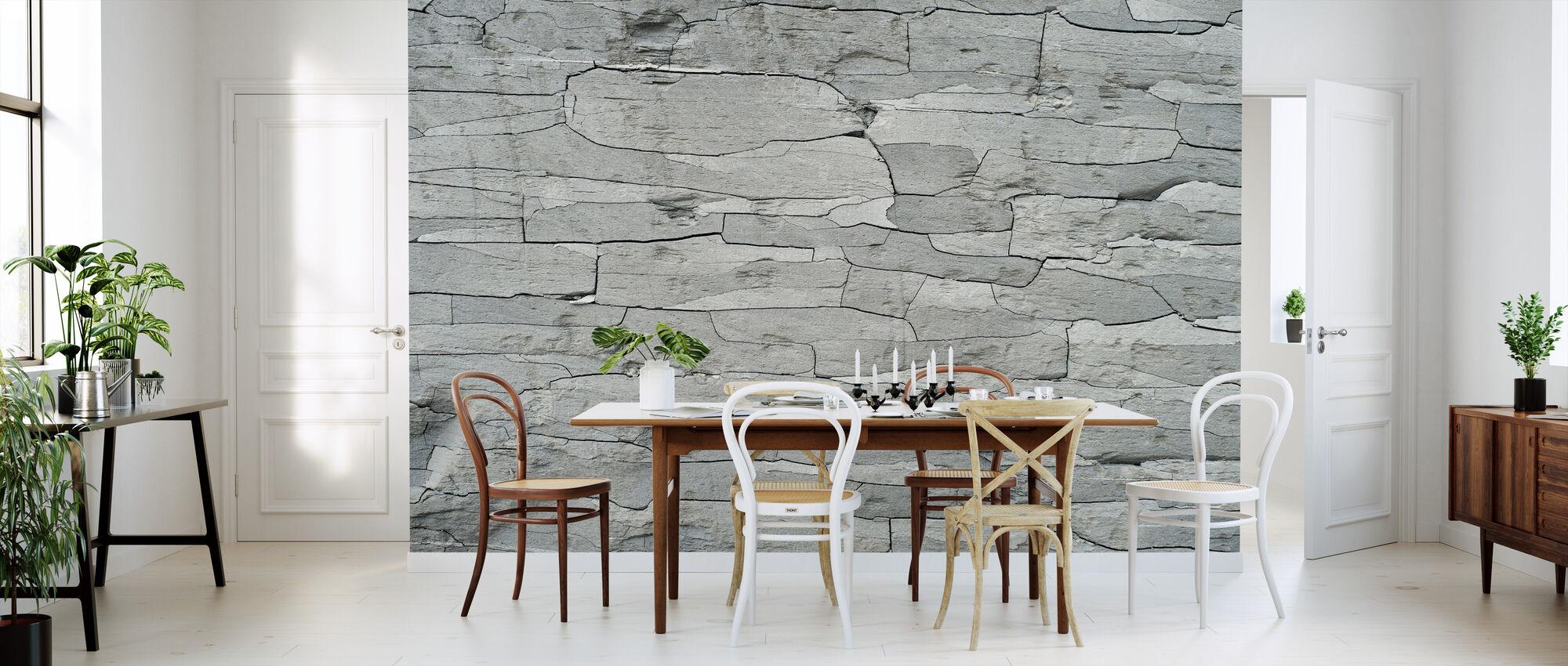 Grey Stone Pattern - Wallpaper - Kitchen