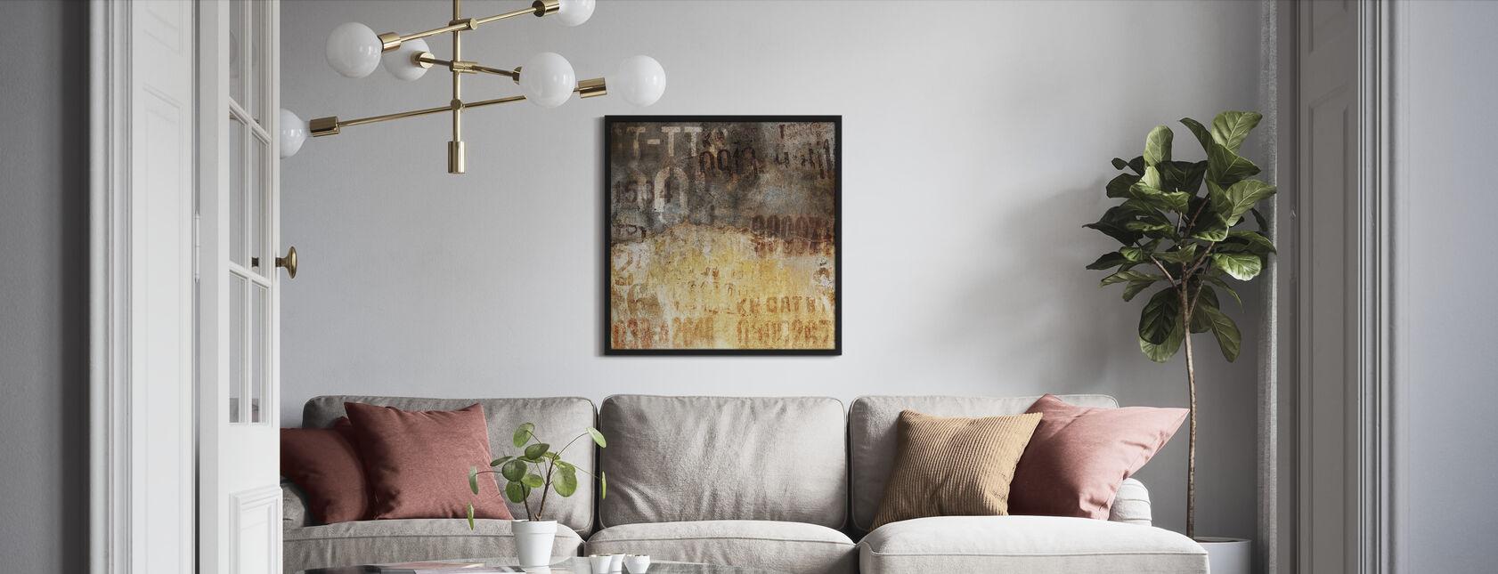 Gamla Grunge vägg - Inramad tavla - Vardagsrum
