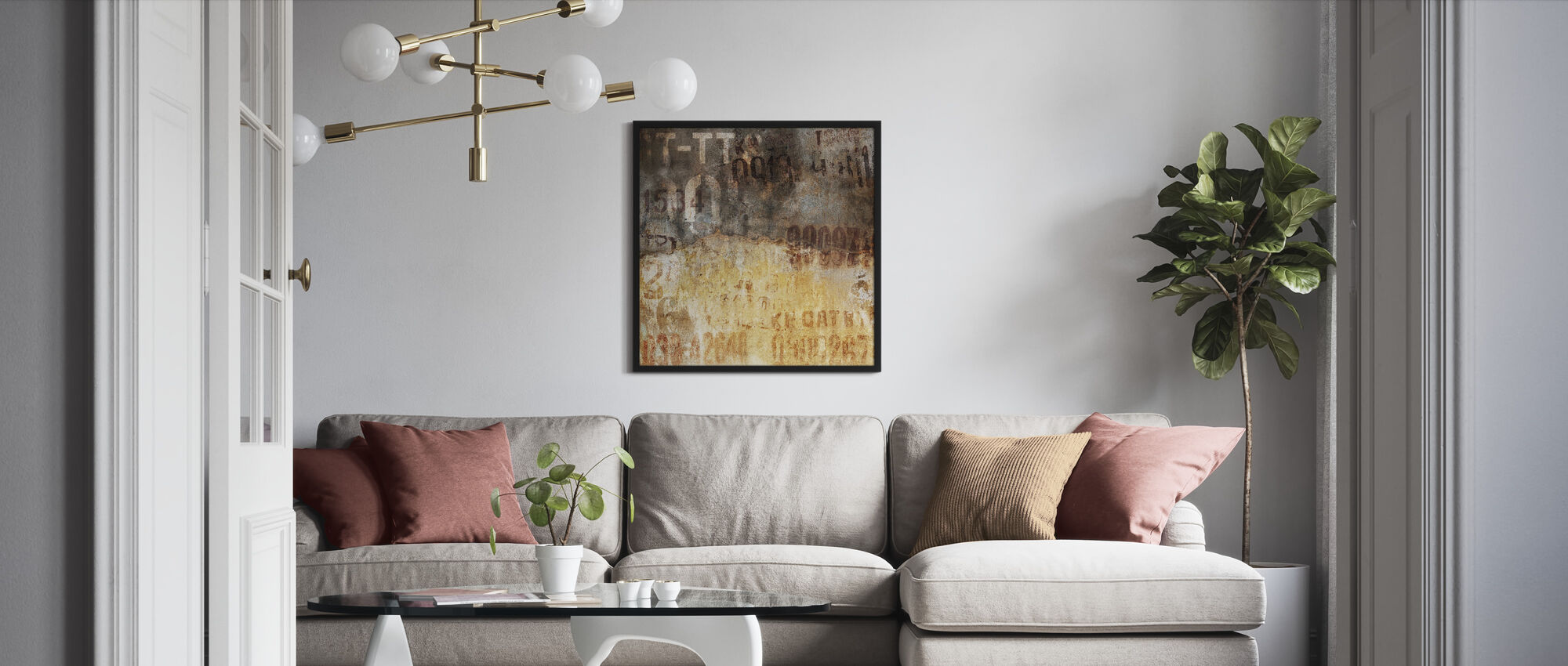Old Grunge Wall - Framed print - Living Room