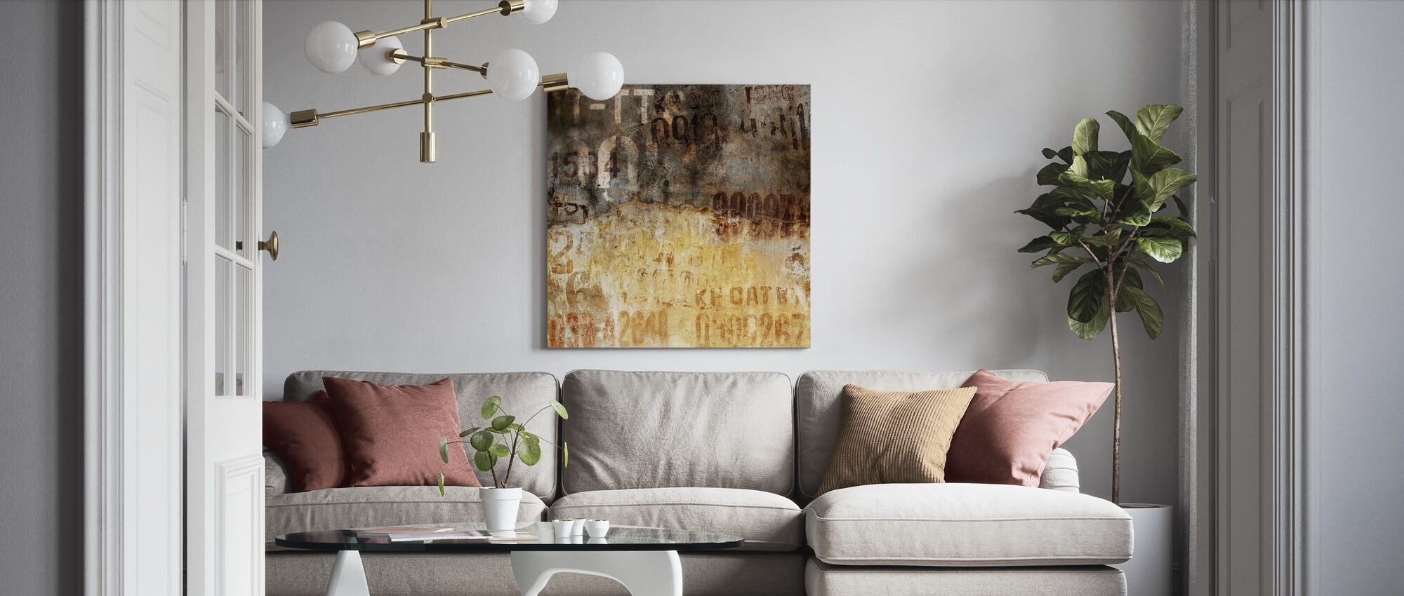Old Grunge Wall - Canvas print - Living Room