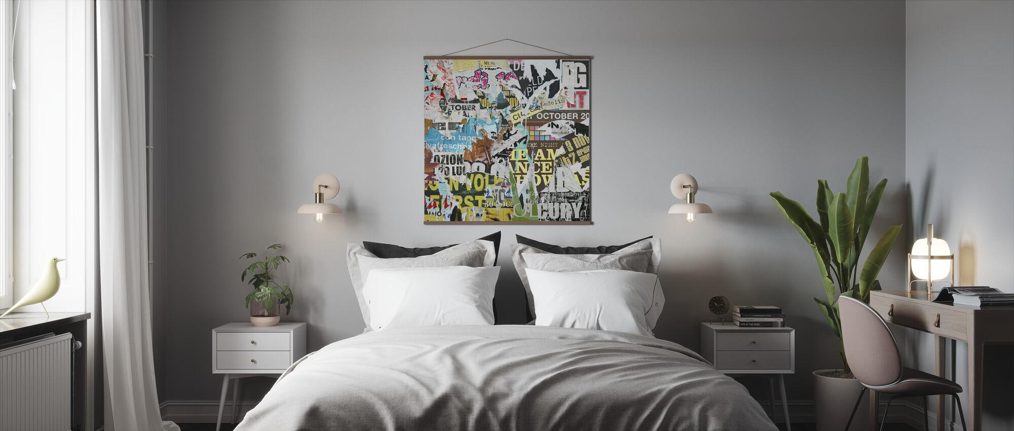 Oude gescheurde posters - Poster - Slaapkamer