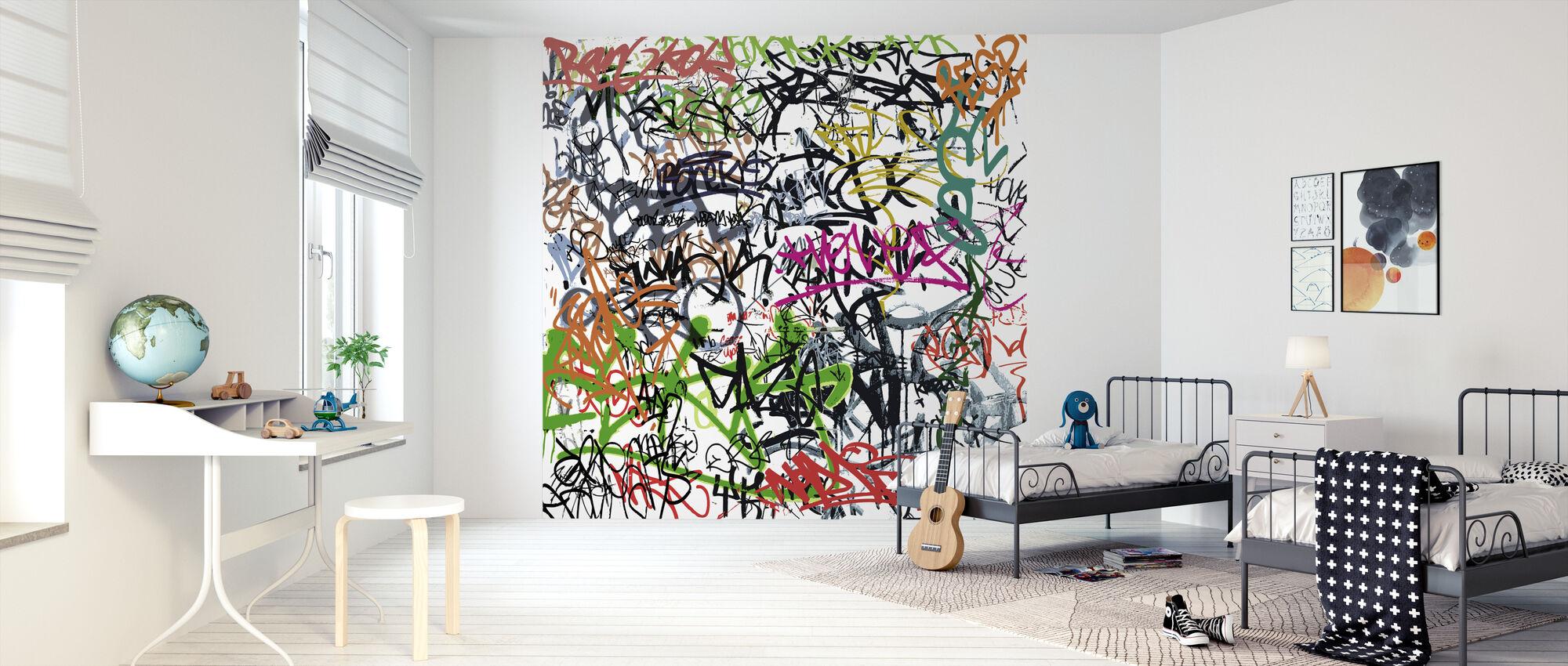 Graffiti-merking - Tapet - Barnerom