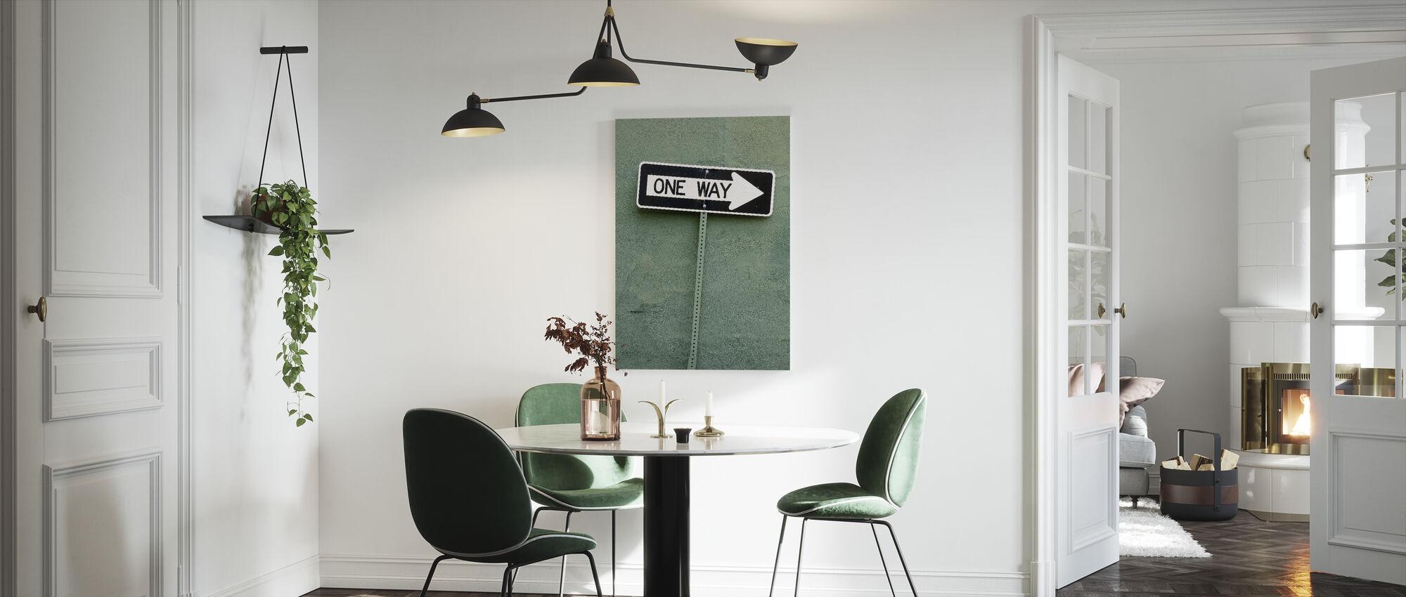 One Way - Canvas print - Kitchen
