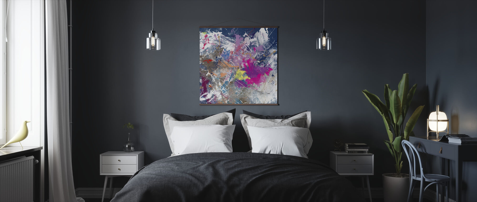 Grunge Color Explotion - Poster - Bedroom