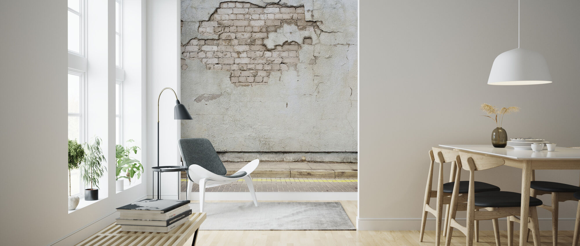 Aged Street Wall - Wallpaper - Living Room
