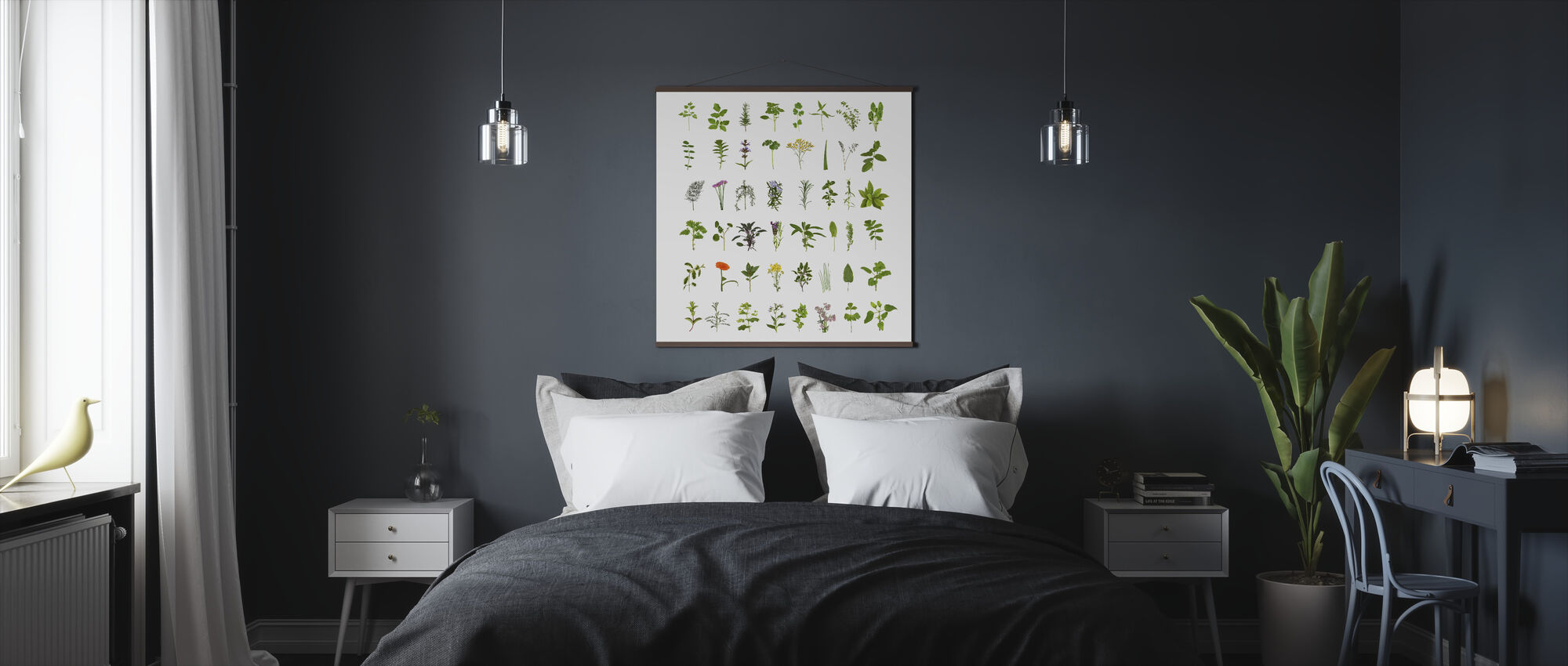 Herb and Flower Collection - Poster - Bedroom