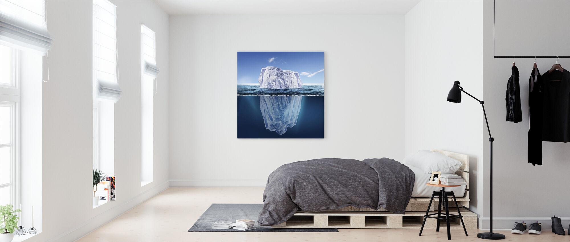 Dold under ytan - Canvastavla - Sovrum