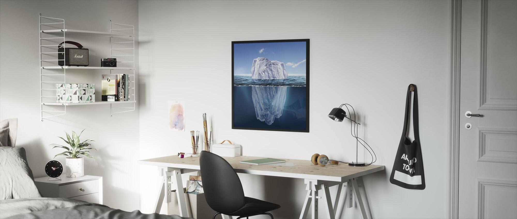 Hidden Beneath the Surface - Framed print - Kids Room