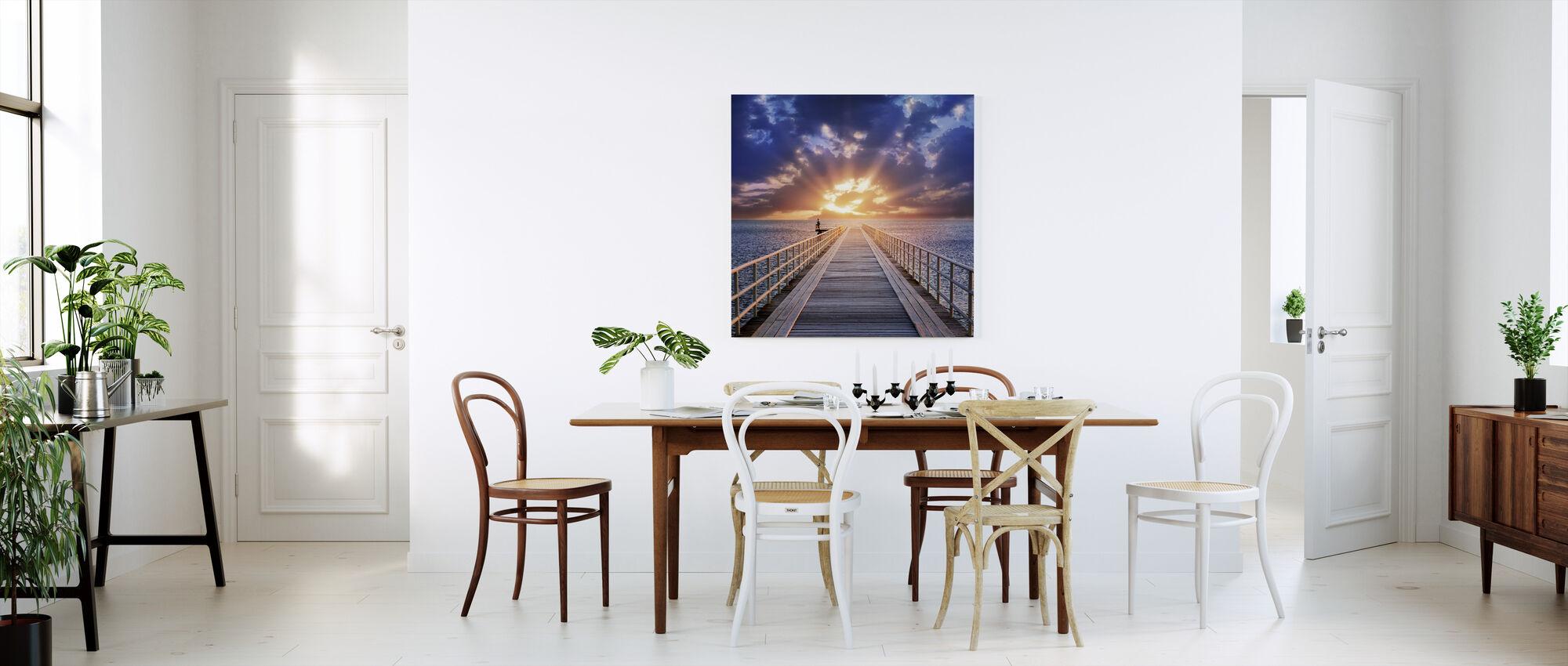 Bakgrunnsbelysning bro - Lerretsbilde - Kjøkken