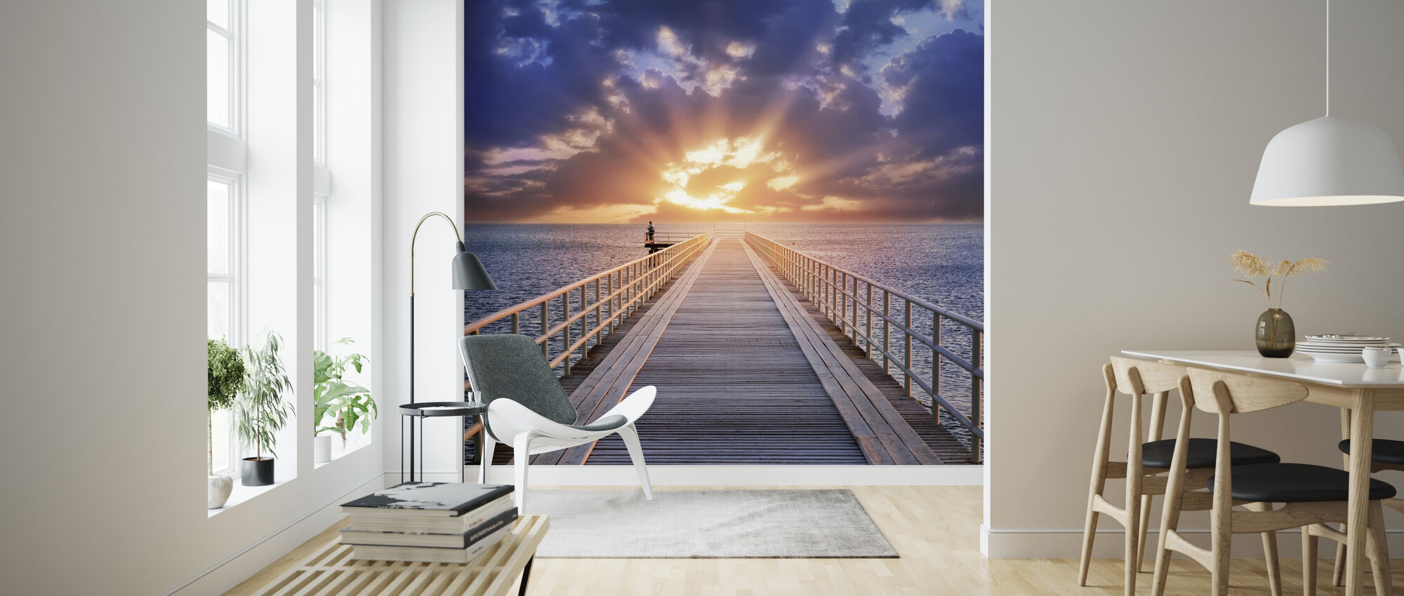 Backlight Bridge - Wallpaper - Living Room