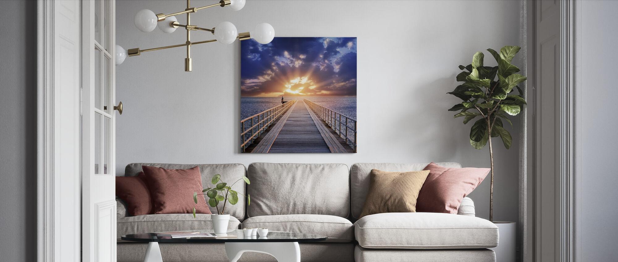 Baggrundsbelysning Bridge - Billede på lærred - Stue