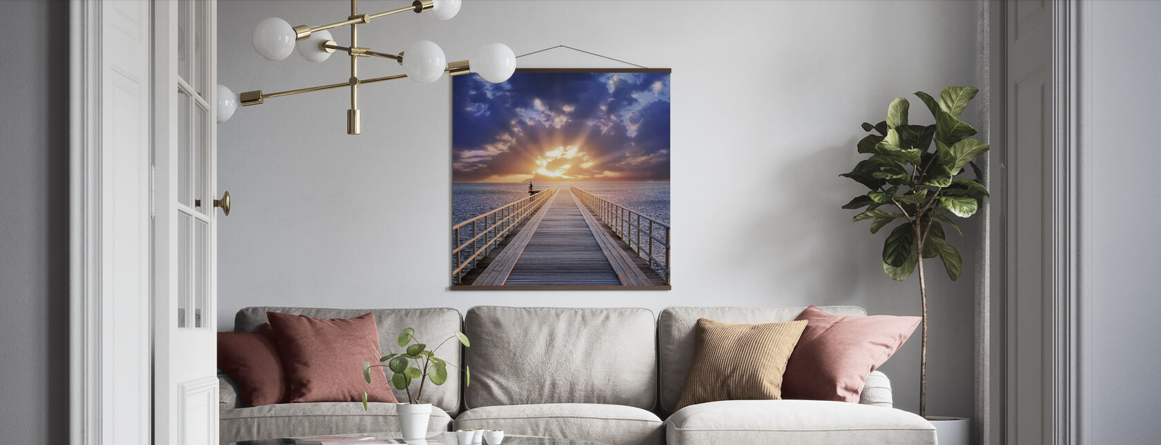 Backlight Bridge - Poster - Living Room