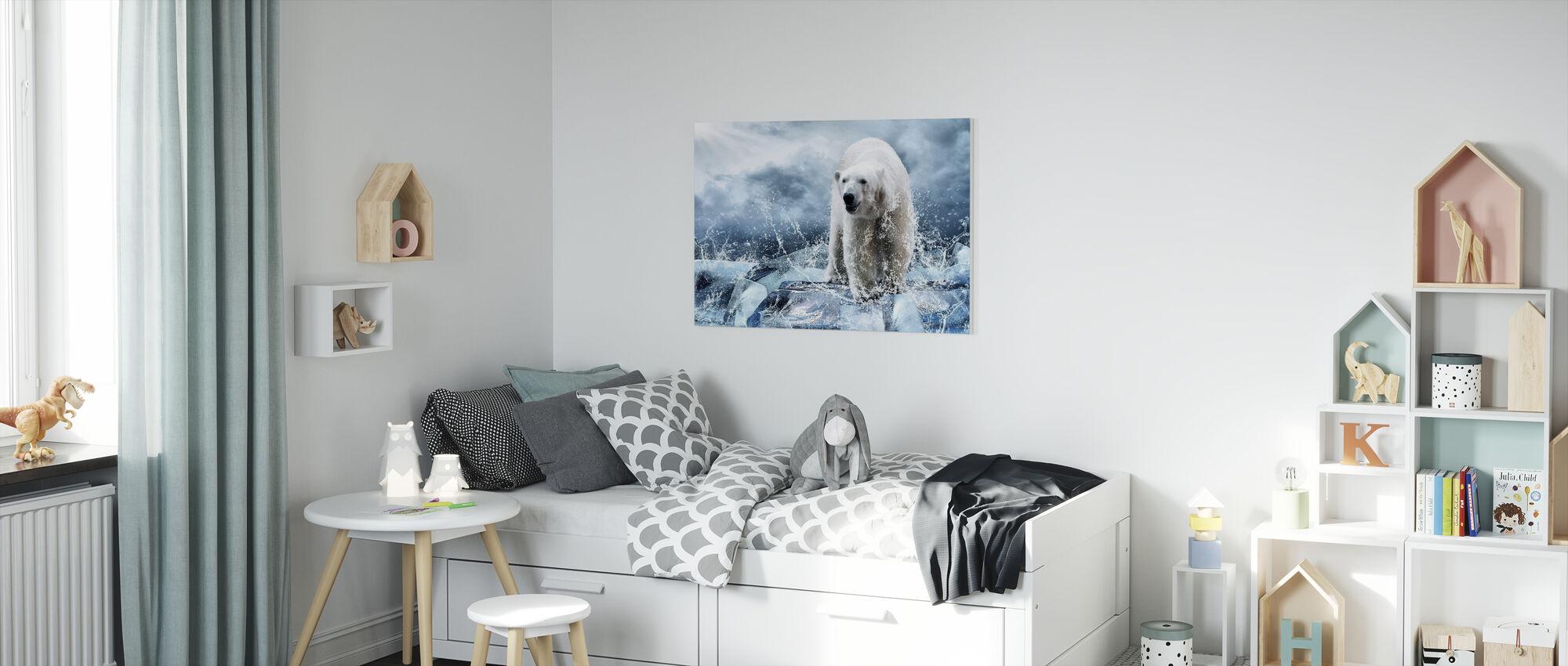 Is jæger - Billede på lærred - Børneværelse