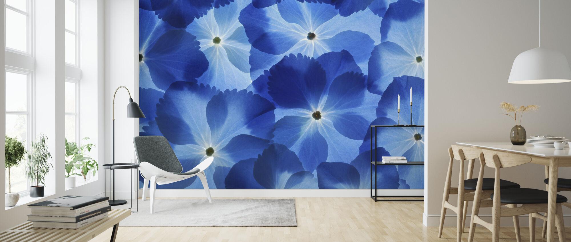 Blå Hortensia - Tapet - Stue