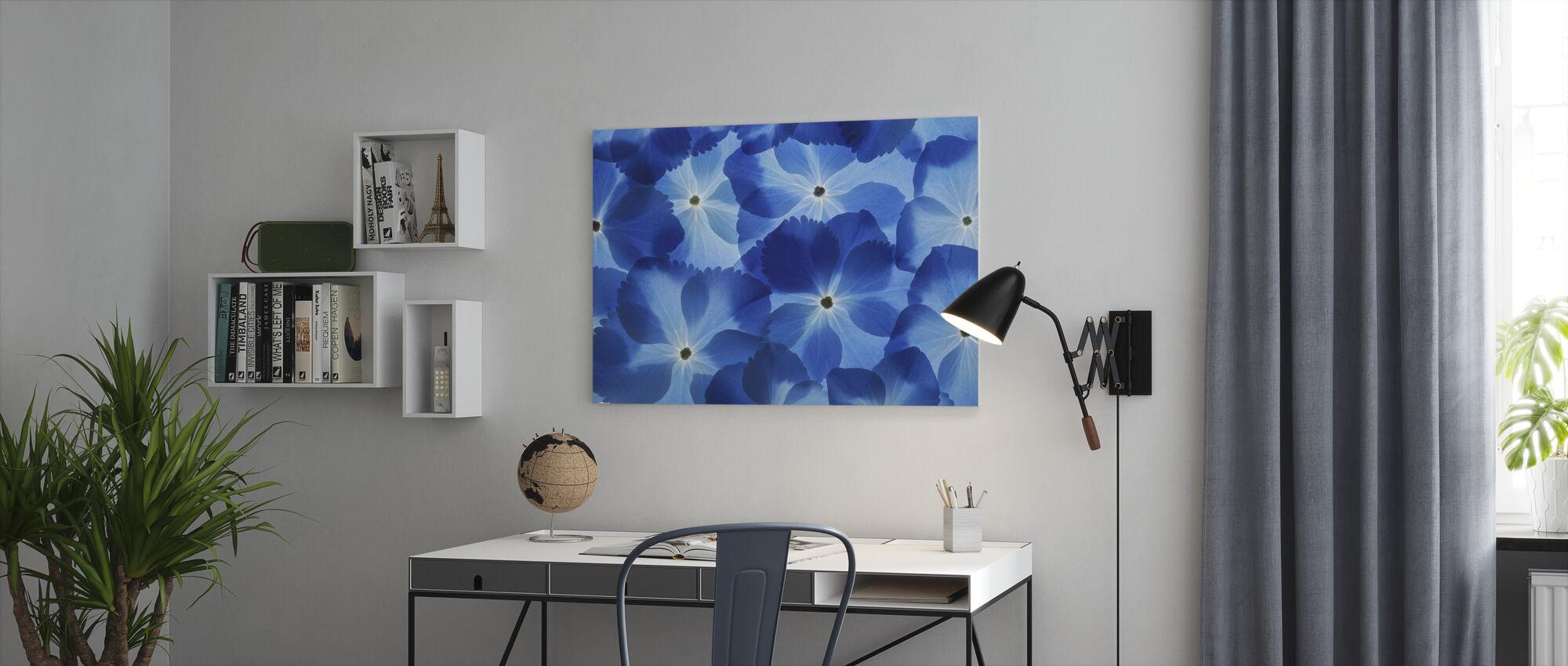 Blue Hortensia - Canvas print - Office