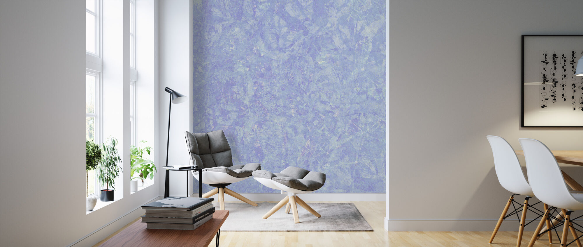 Blue Wash - Wallpaper - Living Room