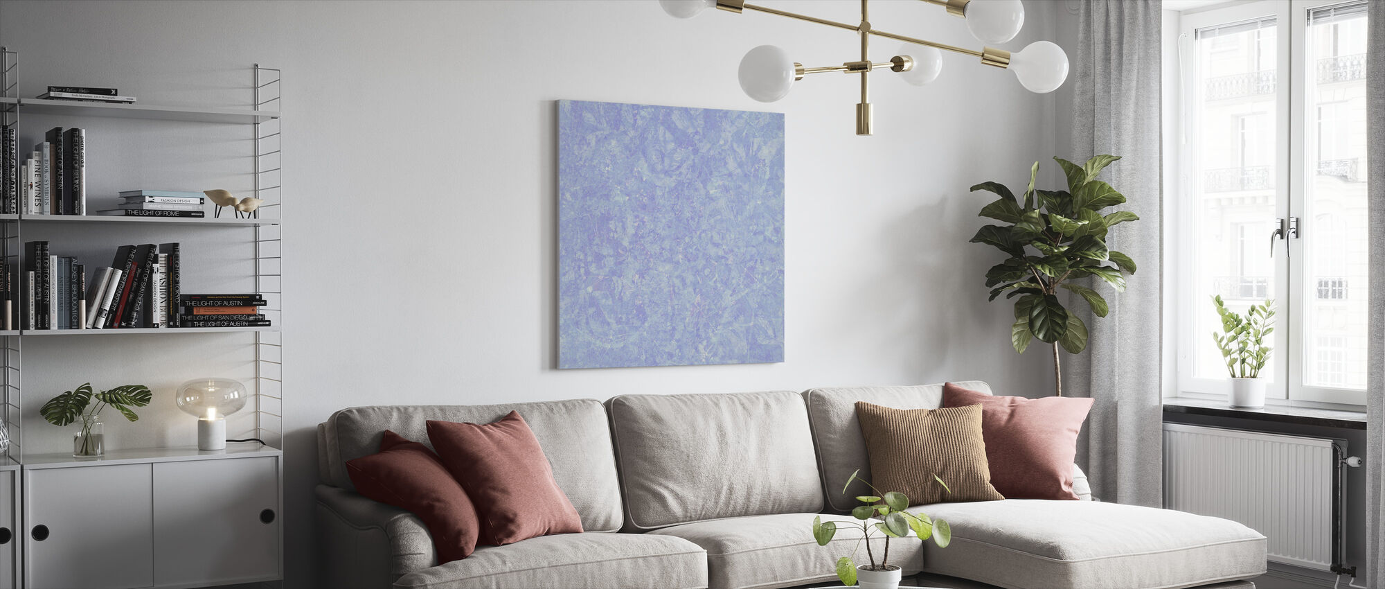 Sininen pesu - Canvastaulu - Olohuone