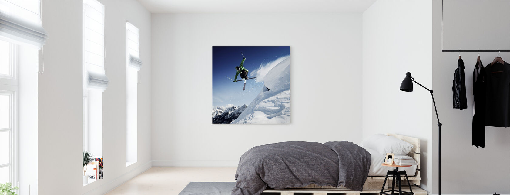 Jumping Skier - Canvas print - Bedroom