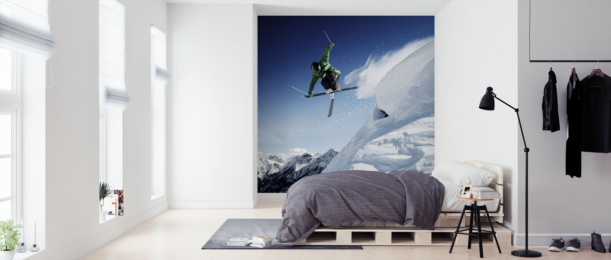 Jumping Skier - Wallpaper - Bedroom