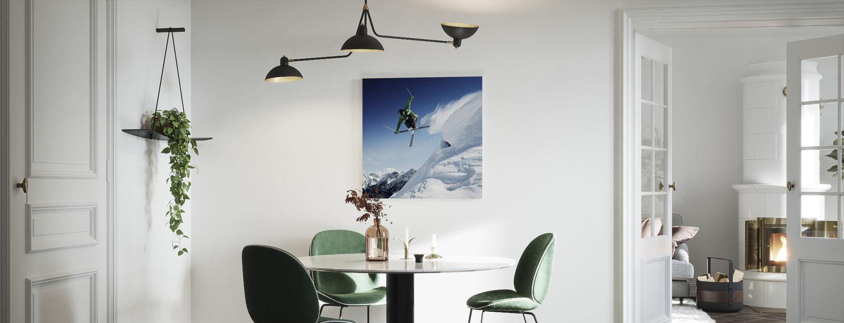 Springender Skifahrer - Leinwandbild - Küchen