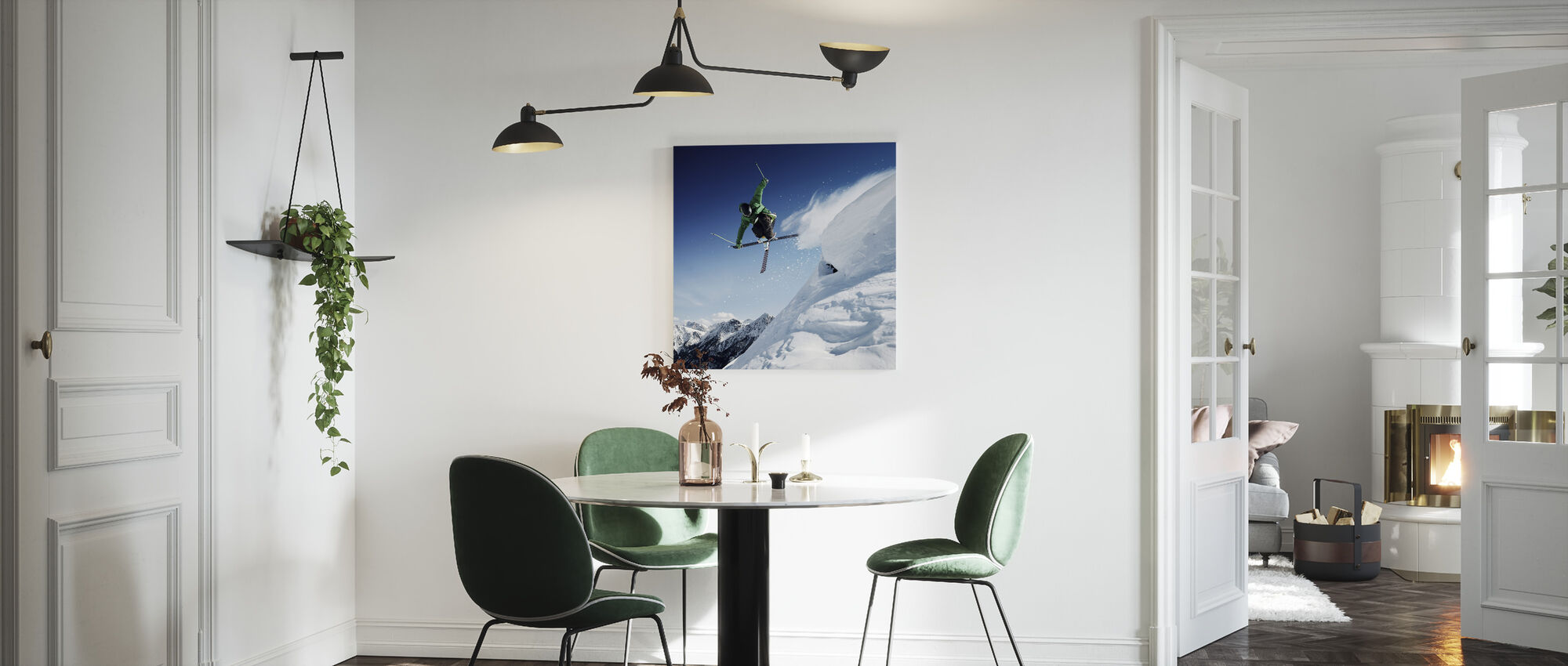 Jumping Skier - Canvas print - Kitchen