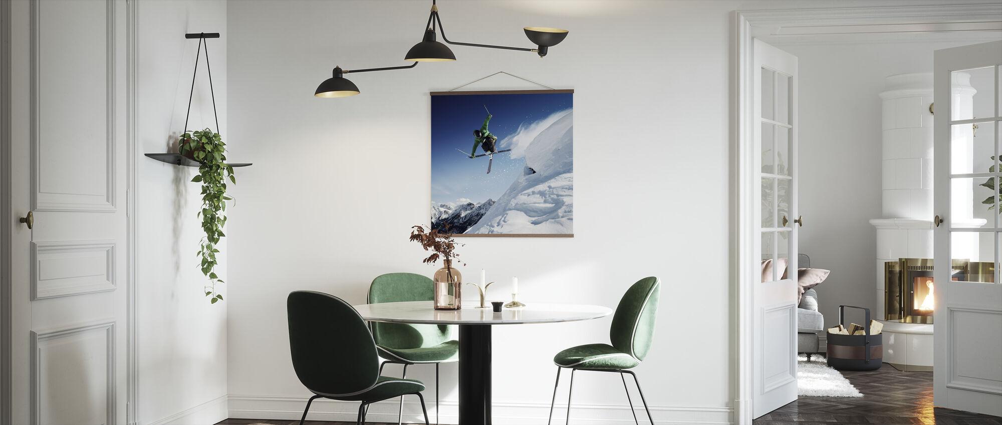 Jumping Skier - Poster - Kitchen