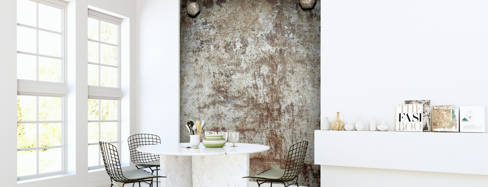 Bolted Steel Plate - Wallpaper - Kitchen