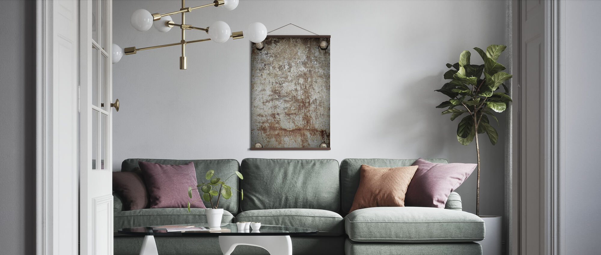 Bolted Steel Plate - Poster - Living Room