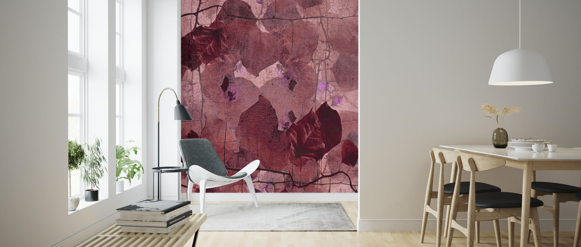 Bordeaux Grapevine - Wallpaper - Living Room