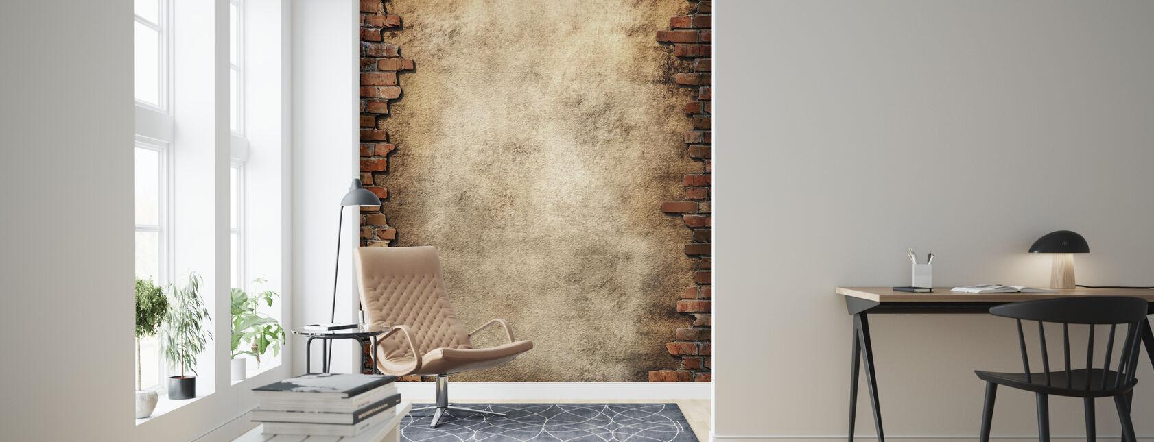 Brick Wall Frame - Wallpaper - Living Room