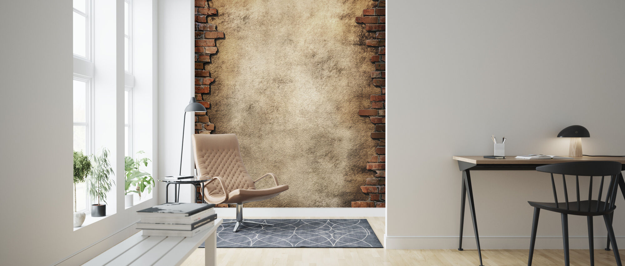 Brick Wall Frame - Wallpaper - Living Room