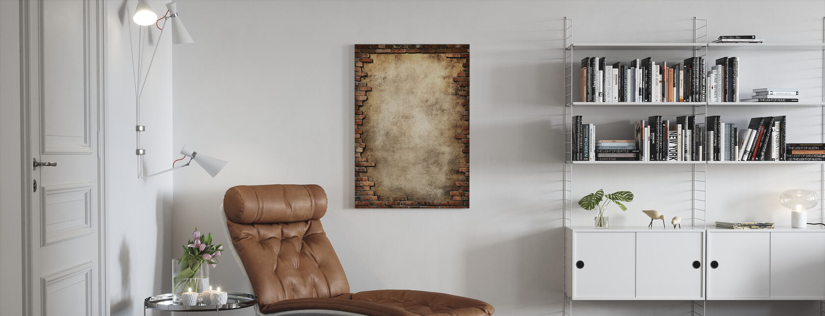 Brick Wall Frame - Canvas print - Living Room