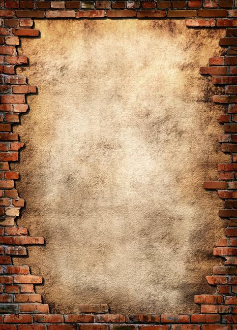 Brick Wall Frame Fototapeter & Tapeter 100 x 100 cm