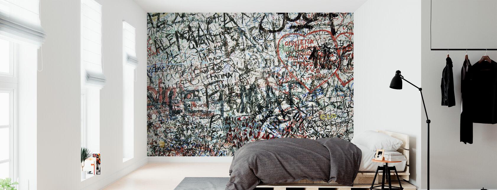 Muro de los enamorados - Papel pintado - Dormitorio