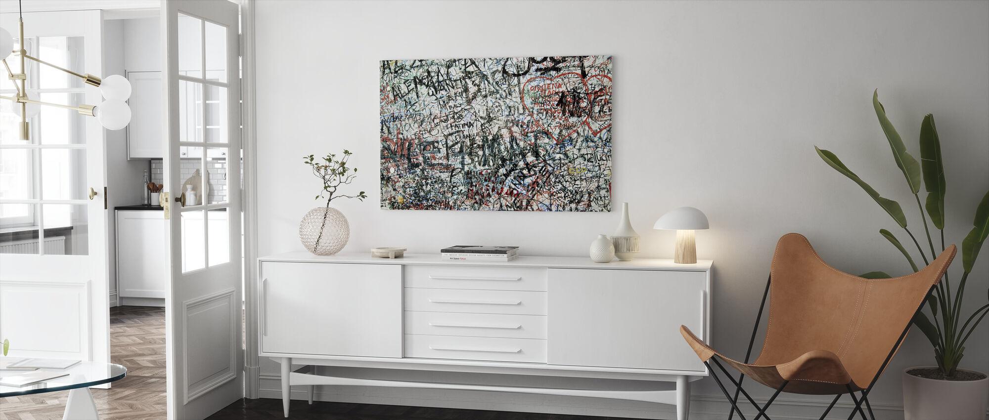Liefhebbers muur - Canvas print - Woonkamer