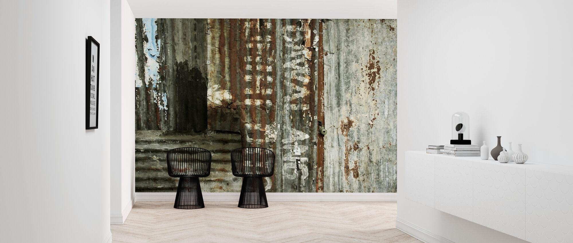 Corrugated Iron Sheeting - Wallpaper - Hallway