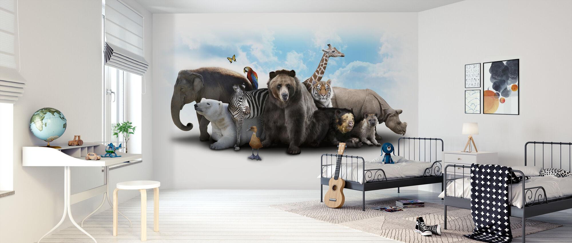 Overvol - Behang - Kinderkamer