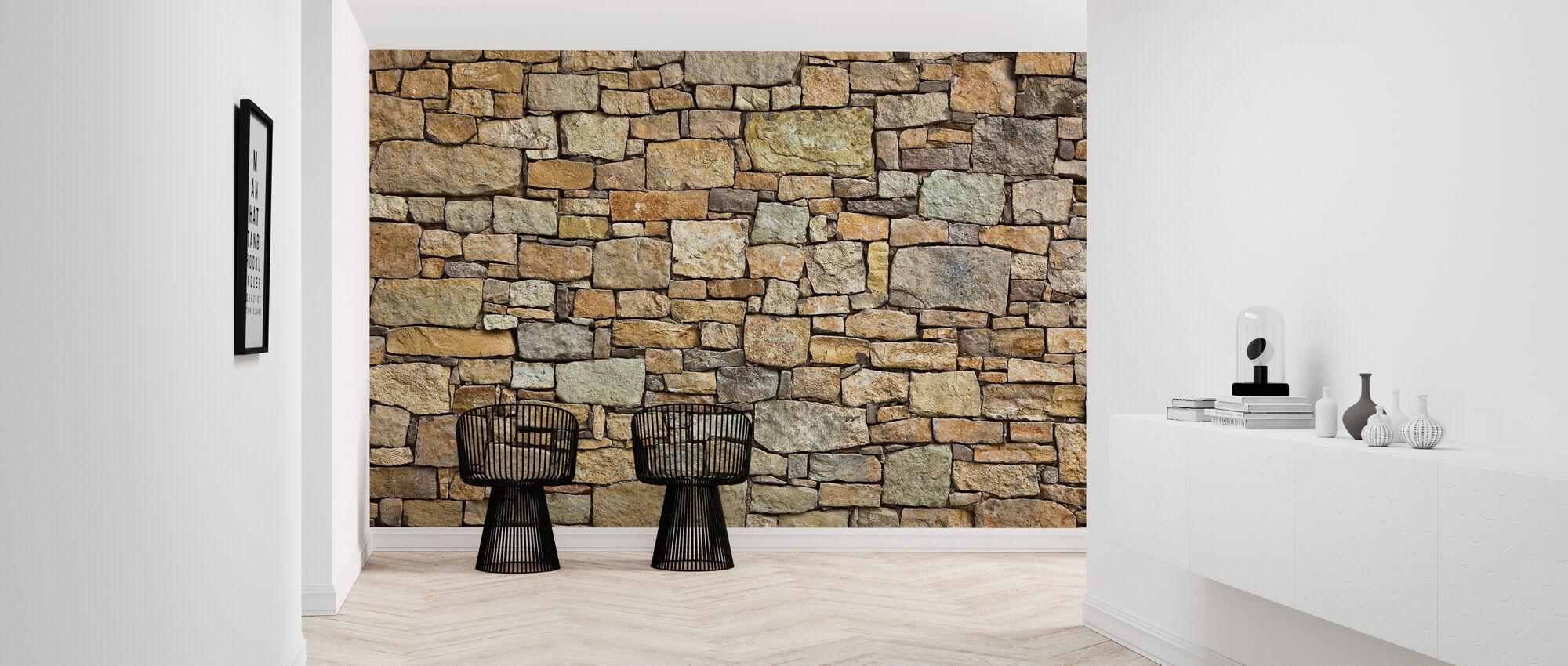 Melange stenmur - Tapet - Hall