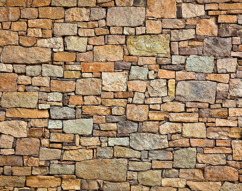 Melange Stone Wall Fototapeter & Tapeter 100 x 100 cm