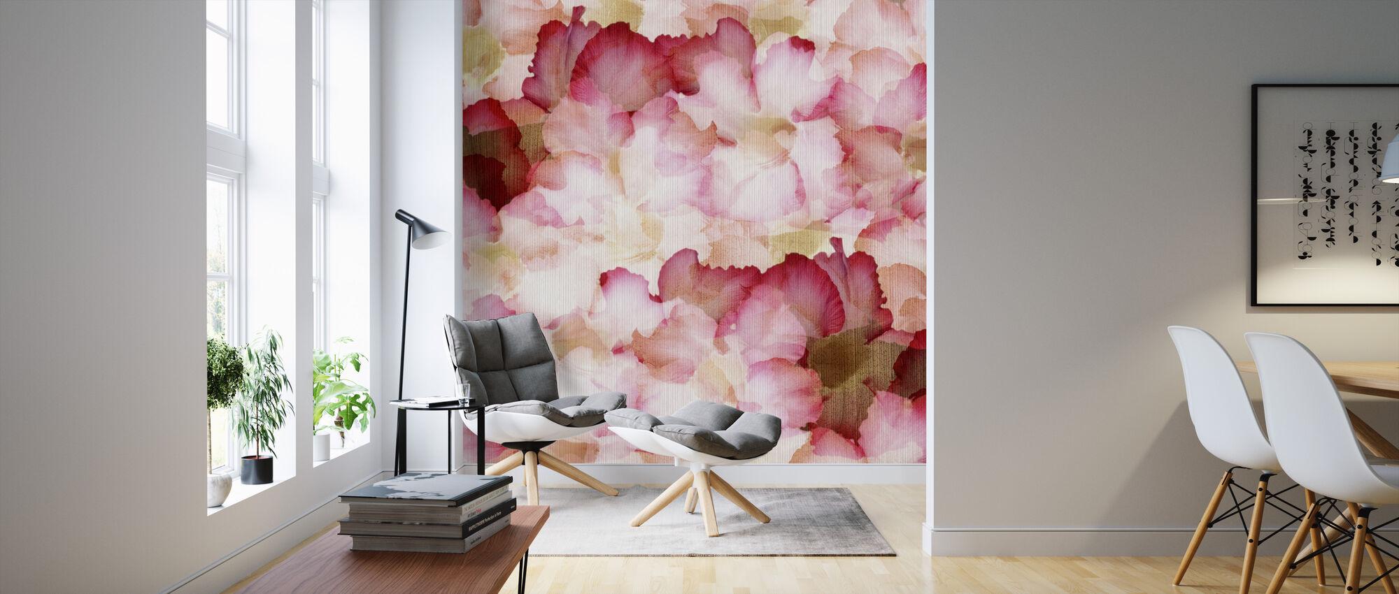 Desert Rose Petals - Wallpaper - Living Room