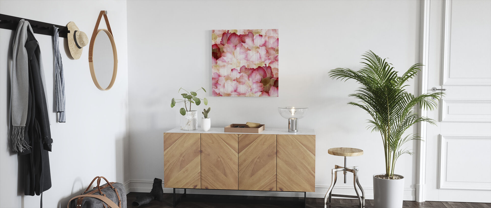 Desert Rose Petals - Canvas print - Hallway