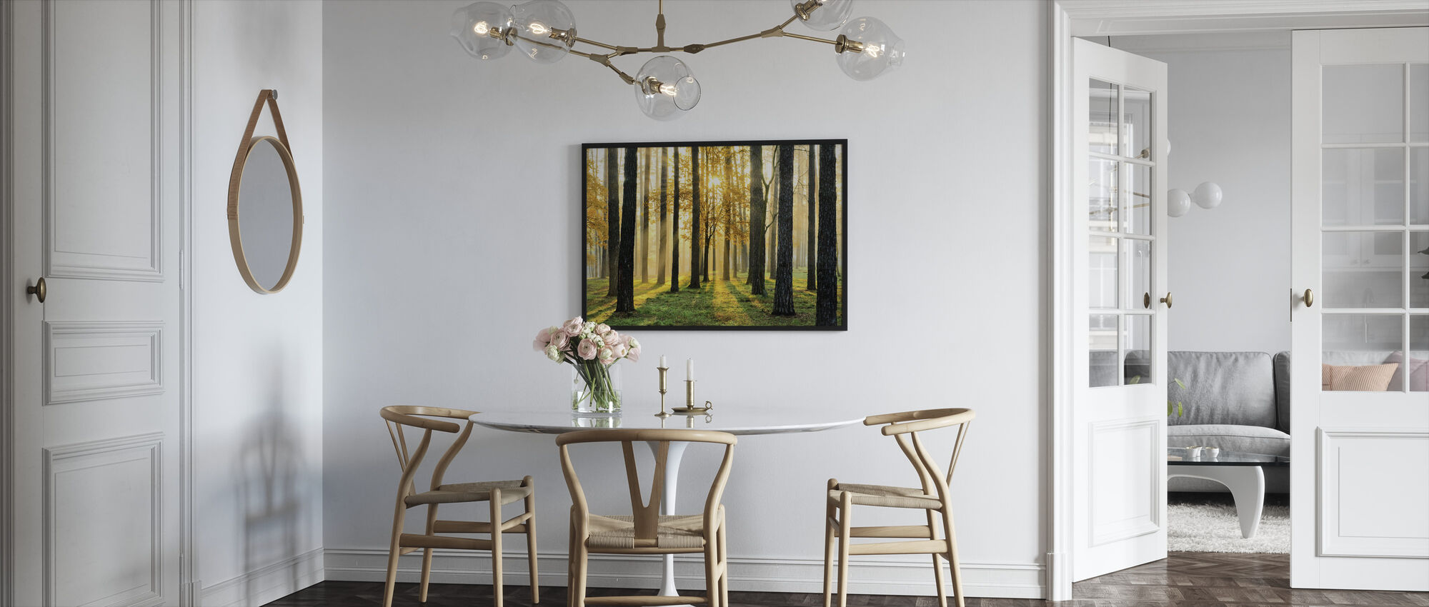 Morning Scene - Framed print - Kitchen