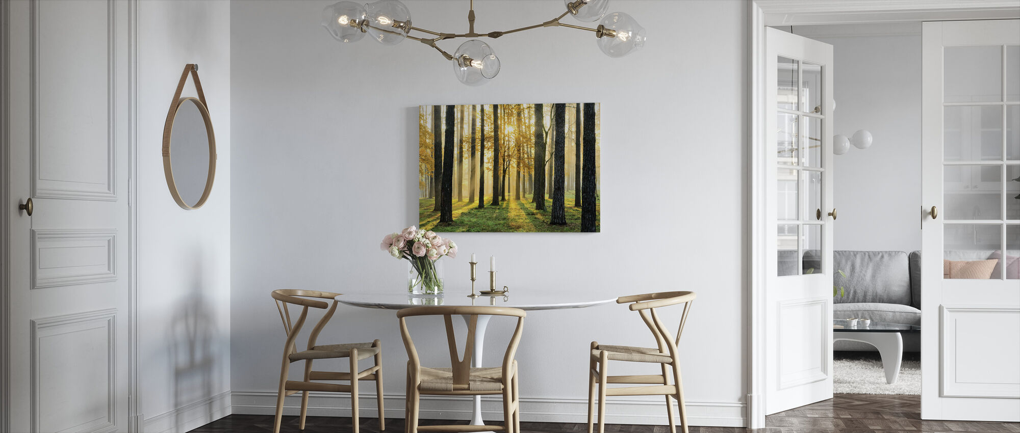 Morning Scene - Canvas print - Kitchen